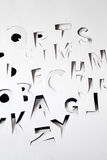 Papery alphabet Stock Photo