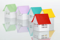 Papery houses Royalty Free Stock Photo