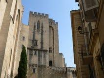 papes för palais för avignon des france Arkivfoto