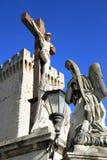 Papes Palace dans AVigon, France Images stock