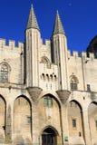 Papes Palace dans AVigon, France Photos libres de droits