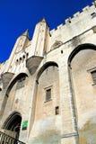 Papes Palace dans AVigon, France Photo libre de droits
