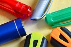 Papeterie colorée Photos libres de droits
