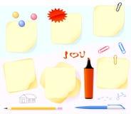 papeterie de papier illustration stock
