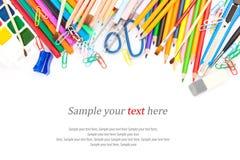 Papeterie et texte Images stock