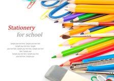 Papeterie pour l'école Photographie stock libre de droits