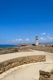 Paphos Кипр 2011 маяк старый Стоковое Фото
