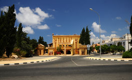 Paphos. New hotel in Paphos - a replica of the classic buildings in Cyprus Stock Photography