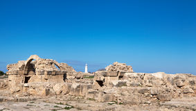 Paphos archaeological park at Kato Pafos in Cyprus Royalty Free Stock Image