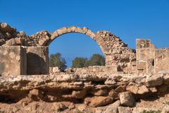 Paphos archaeological park at Kato Pafos in Cyprus Royalty Free Stock Photos
