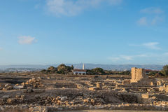 Paphos Archaeological park in the light of the evening sun Stock Image
