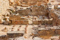 Paphos archaeological site, Historic ruins. UNESCO world heritage site royalty free stock photo