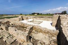 Paphos Archeologiczny park - Cypr Zdjęcie Stock