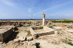 Paphos Archeologiczny park - Cypr Fotografia Royalty Free