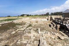 Paphos Archeologiczny park - Cypr Obrazy Royalty Free