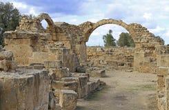 Paphos Archeologisch Park in Cyprus royalty-vrije stock afbeelding