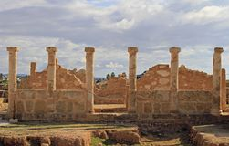 Paphos Archeologisch Park in Cyprus royalty-vrije stock foto