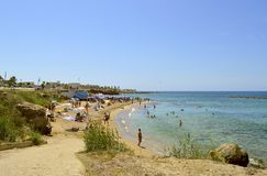 Paphos beach in Cyprus Royalty Free Stock Image