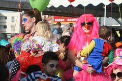 Paphos Carnaval 2016 stock fotografie