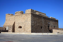 Paphos Castle, Cyprus. Paphos Castle, originally built as a Byzantine fort, which stands guarding the harbour in Paphos, Cyprus and now a museum Stock Photo