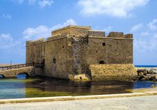 Paphos castle Stock Images