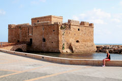 Paphos castle Royalty Free Stock Image