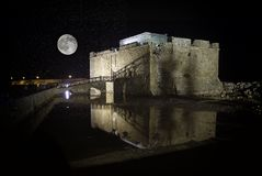 Paphos castle Stock Image