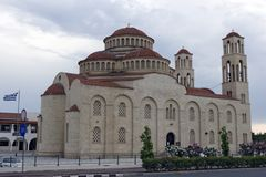 Paphos, Chypre - église grecque Agioi Anargyroi Photo stock