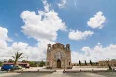 PAPHOS CYPR, MAJ, - 2016: Ażio Georgios kościół Zdjęcie Royalty Free
