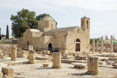Paphos, Cyprus, Europe. Ancient world meets present, roman ruins of Pafos, Cyprus, Europe Royalty Free Stock Images