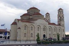 Paphos, Cyprus - Griekse kerk Agioi Anargyroi Stock Foto