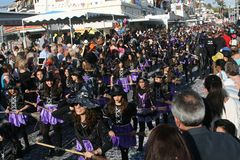 Paphos Carnival 2016 stock photography