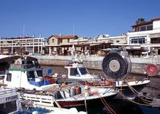 Paphos fishing harbour, Cyprus. Stock Photography
