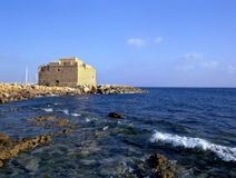 Paphos Fort. The old fort in Paphos, Cyprus, Europe royalty free stock photos