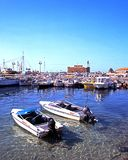 Paphos harbour and castle. Stock Images