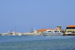 Paphos harbour in Cyprus Stock Images