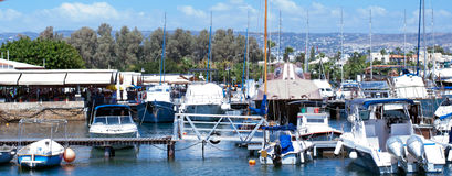 Paphos harbour. View of the Paphos harbour Stock Photography