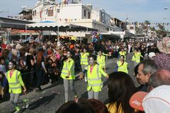 Paphos karneval 2016 royaltyfri fotografi