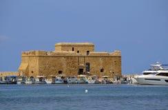 Paphos kasztel w Cypr Zdjęcie Stock