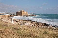 Paphos kasztel w Cypr Zdjęcia Stock