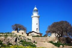 Paphos-Leuchtturm Stockfotografie