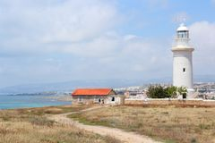 Paphos lighthouse Royalty Free Stock Photo
