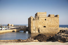 Paphos medieval fort, Paphos, Cyprus Stock Photo
