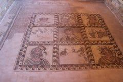 Paphos mosaik Arkivfoto