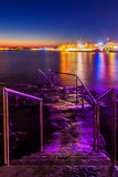 Paphos Nightlife. Paphos city, Cyprus at night Royalty Free Stock Photos