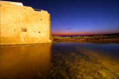 Paphos port. In Cyprus late in the evening Royalty Free Stock Image