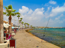 PAPHOS promenade. Cyprus Royalty Free Stock Images