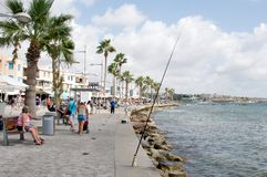 Paphos Promenade Cyprus Royalty Free Stock Photo