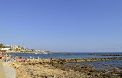 Paphos schronienie w Cypr Zdjęcia Stock