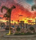 Paphos-Sonnenuntergang Stockbild